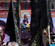 حركة الجهاد الإسلامي تنظم مسيرة تضامنية مع الأسرى المضربين/ تصوير: علاء السراج