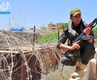 انتشار أفراد الامن الوطني على الحدود الفلسطينية المصرية/ تصوير ضياء الأغا