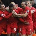لاعبو ليفربول يحتفلون بتسجيل الهدف