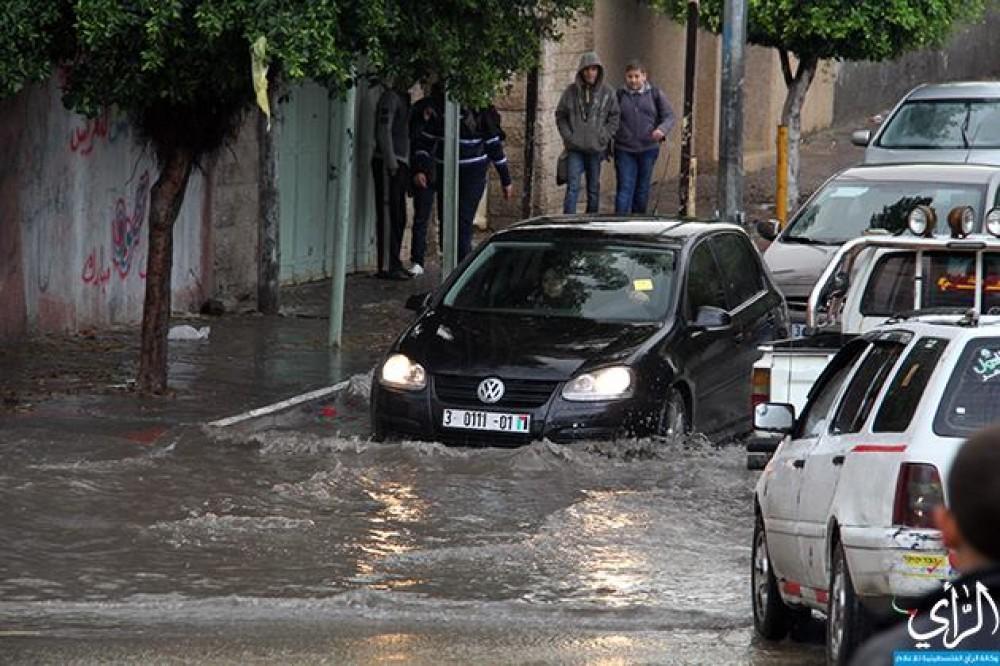 أمطار غزة لهذا اليوم