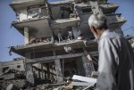 منازل مدمرة بغزة جراء العدوان الأخير