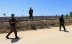 الشرطة الفلسطينة على الحدود مع مصر
