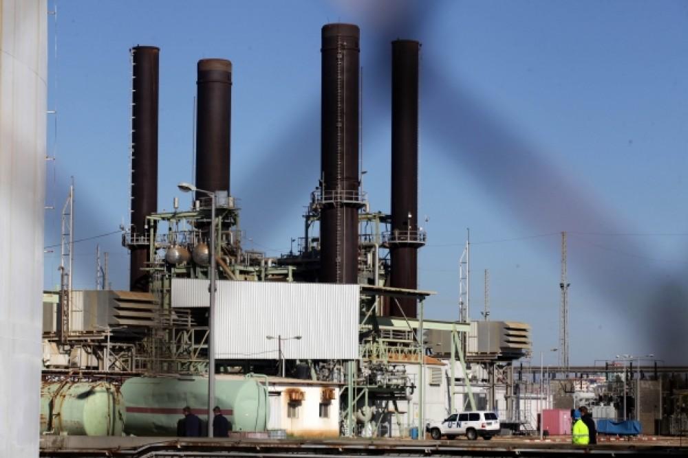محطة توليد الكهرباء الوحيدة بغزة