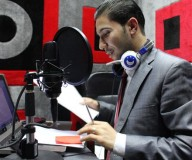 إطلاق إذاعة الرأي الفلسطينية/ تصوير عطية درويش