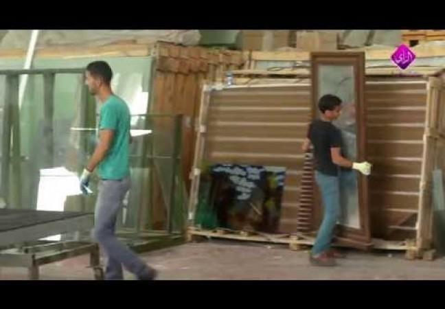تشكيل وتلوين الزجاج في غزة