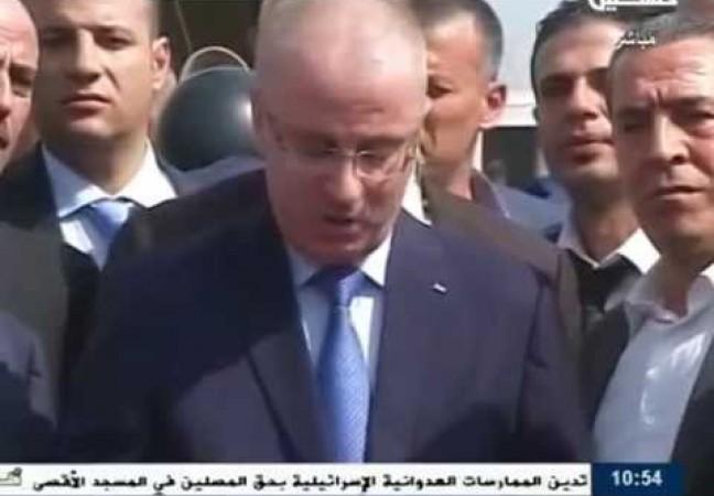 المؤتمر الصحفي لرئيس وزراء حكومة التوافق  د رامي الحمدالله  على معبر بيت حانون