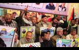 | اعتصام الأسرى الأسبوعي داخل مقر الصليب الأحمر بغزة