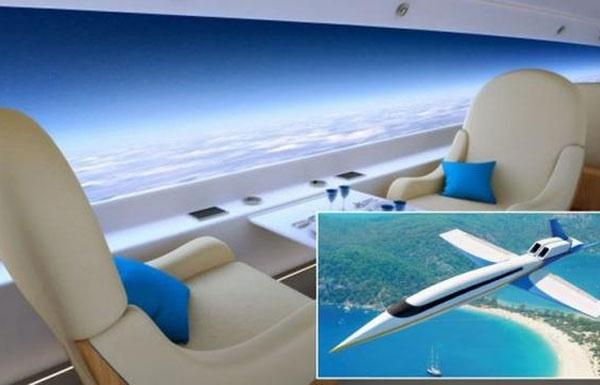 طائرة مفتوحة على السماء