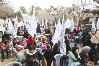 وقفة نسائية لحركة الأحرار لدعم الأسرى - تصوير/ رشاد الترك