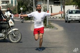 ماراثون في غزة تضامناً مع الأسرى الفلسطينيين – تصوير/ عطية درويش