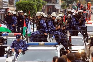 من غزة لفعاليات #اليوم_الوطني التي تنظمها وزارة الداخلية و الامن الوطني، بمناسبة الذكرى الثامنة لحرب الفرقان . تصوير: عطية درويش