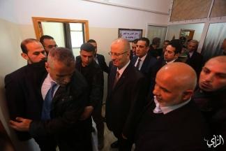 رئيس الوزراء رامي الحمد الله يصل مقر وزارة الداخلية بغزة لعقد اجتماع مع قادة الاجهزة الأمنية. تصوير: عطية درويش
