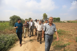 وزارة الزراعة تنظم جولة عمل تفقدية لمشاتل الخوخ والفواكه شمال قطاع غزة/تصوير: رشاد الترك
