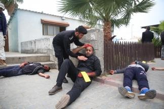 مناورة لفحص جهوزية المؤسسات الحكومية بغزة للتعامل خلال الطوارئ...تصوير   حسن الجدي