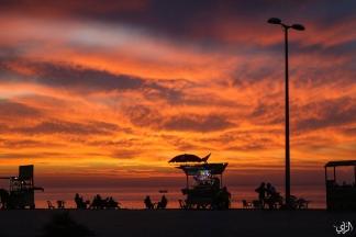 كورنيش غزة مساء اليوم/ تصوير: عطية درويش