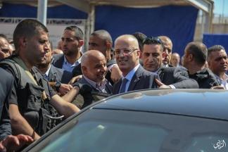 وصول الحمد والوفد المرافق له لغزة - تصوير/ عطية درويش