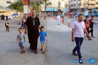 صلاة العيد من مسجد خليل الرحمن.. تصوير: مدحت حجاج