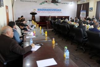 اجتماع حكومي مع وسائل الإعلام المحلية بغزة حول