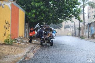 أول أمطار الشتاء في غزة - تصوير/ عطية درويش