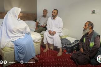 الأوقاف تتفقد أحوال حجاج غزة عقب الحريق في مكة